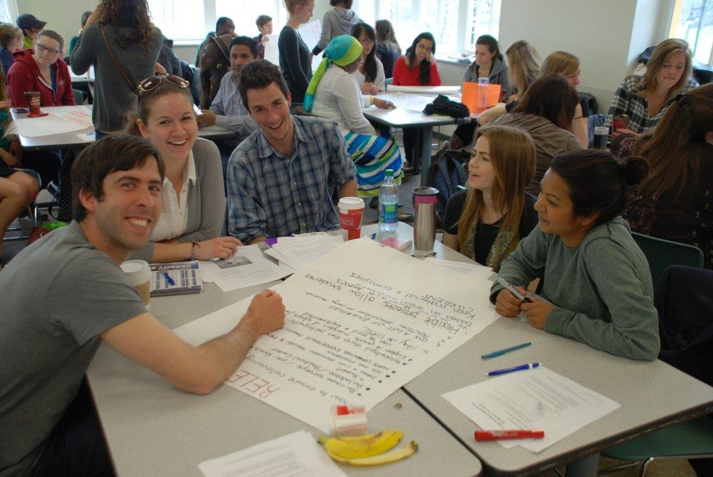Dialogue Education in action at Humber College in May 2014.